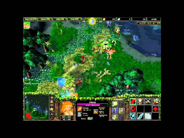 DotA - Windrunner - Public Game #3 HD [FPVOD] 1/2 Travel Video