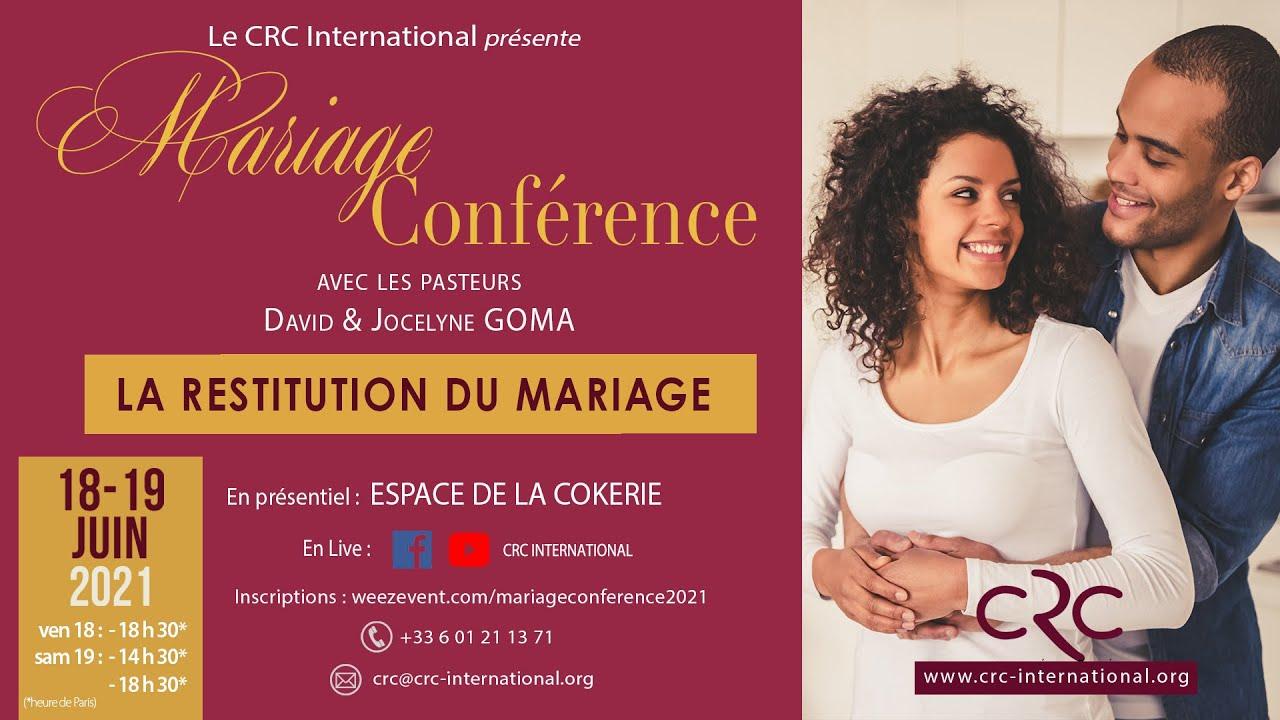 Mariage Conférence : Restituer l'Alliance du Mariage (suite)