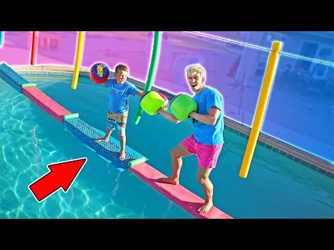 SWIMMING POOL BRIDGE Adventure & EPIC DRITBIKE RACE!