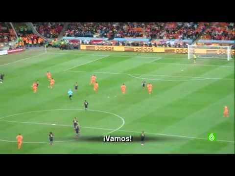 Iniesta goal live from Soccer City Joburg Spain 1 Holland 0 Final of World Cup 2010 South Africa 1/2