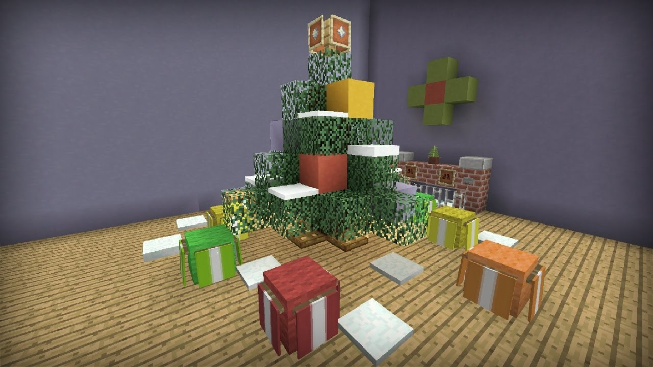 Minecraft Tutorial: How To Make A Christmas Tree