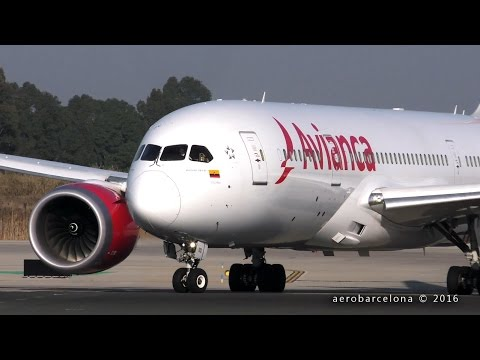 [FULL HD] Avianca 787 Dreamliner departing Barcelona-El Prat