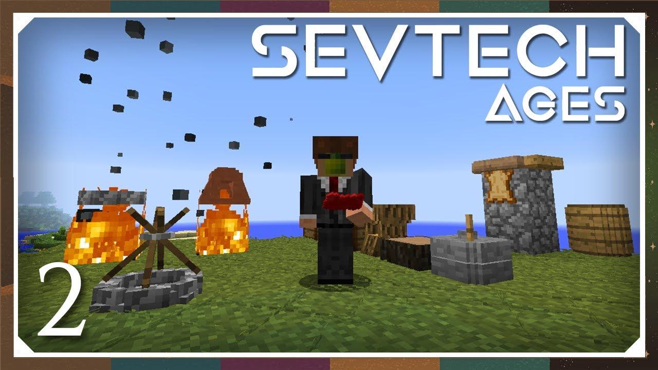 Sevtech: Ages | Grinder, Fluid Blader, Leather & Bed! | E02 (SevTech Ages  Modpack)