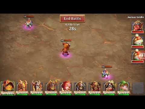 Beat Jealous Goblin Labyrinth Castle Clash