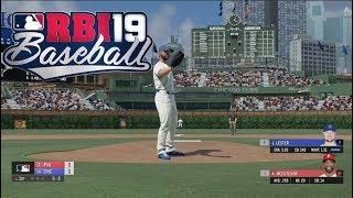 RBI Baseball 19 Gameplay - Chicago Cubs vs Philadelphia Phillies 4 Inning Game (PS4)