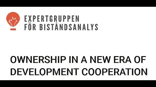 Ownership in a new era of development cooperation
