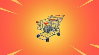 HACKER IN MY GAME KILLS EVERYONE! SHOPPING CART GAMEPLAY FORTNITE UPDATE!