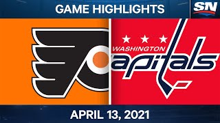 NHL Game Highlights | Flyers vs. Capitals - Apr. 13, 2021