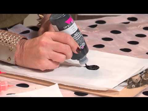 How to Make Window Clings for Halloween with Tulip Fabric Paint