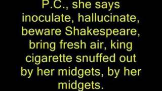 The lyrics to the amazing P.C.P. by the Manics... (the bebo link is...