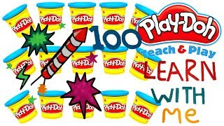 The Big 100 :) l LEARN TO COUNT NUMBERS 91-100 WITH PLAY-DOH In ENGLISH l Squishy Fun