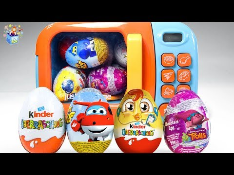 Learning Color Disney Cars Lightning McQueen toy magic microwave surprise Egg play for kids