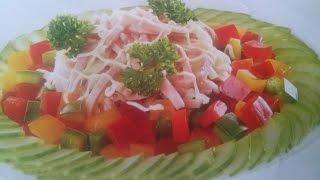 Салат с ветчиной рецепт