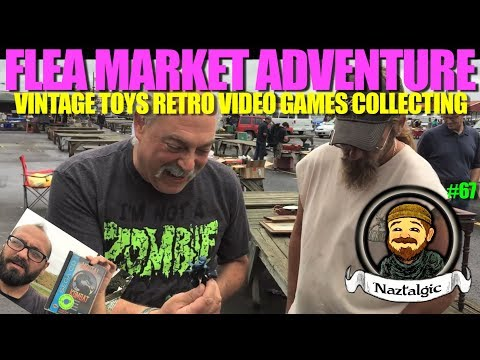 FLEA MARKET ADVENTURE #67 Hunting Retro Video Games, Vintage Toys