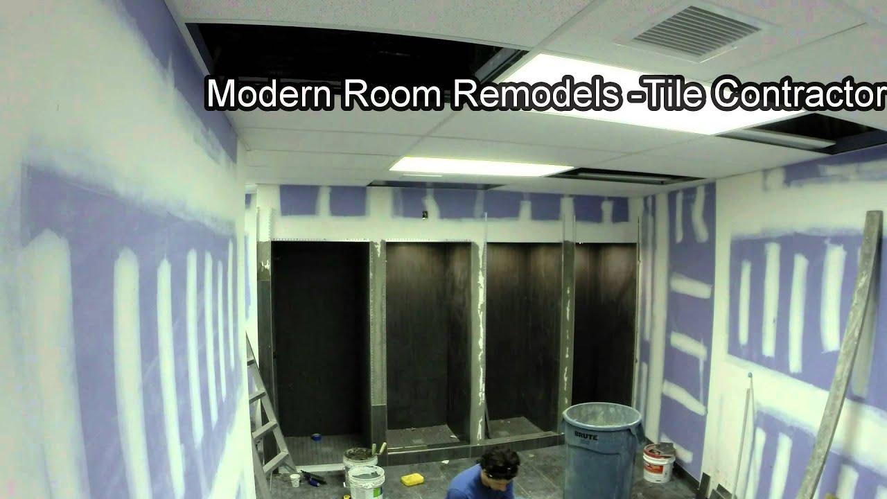 Reebok Crossfit GSP  Gym Locker Room Showers Tiling Time