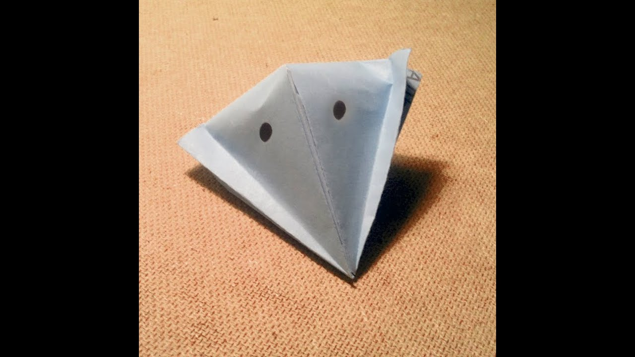 Квакающая лягушка оригами