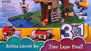 Time Lapse Lakeside Hut Building Part 2 Final Lego Treehouse Creator Build 3 Different Houses