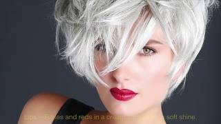 Embrace your gray.  Over 40 Parisian chic gray hairstyle and makeup tips.