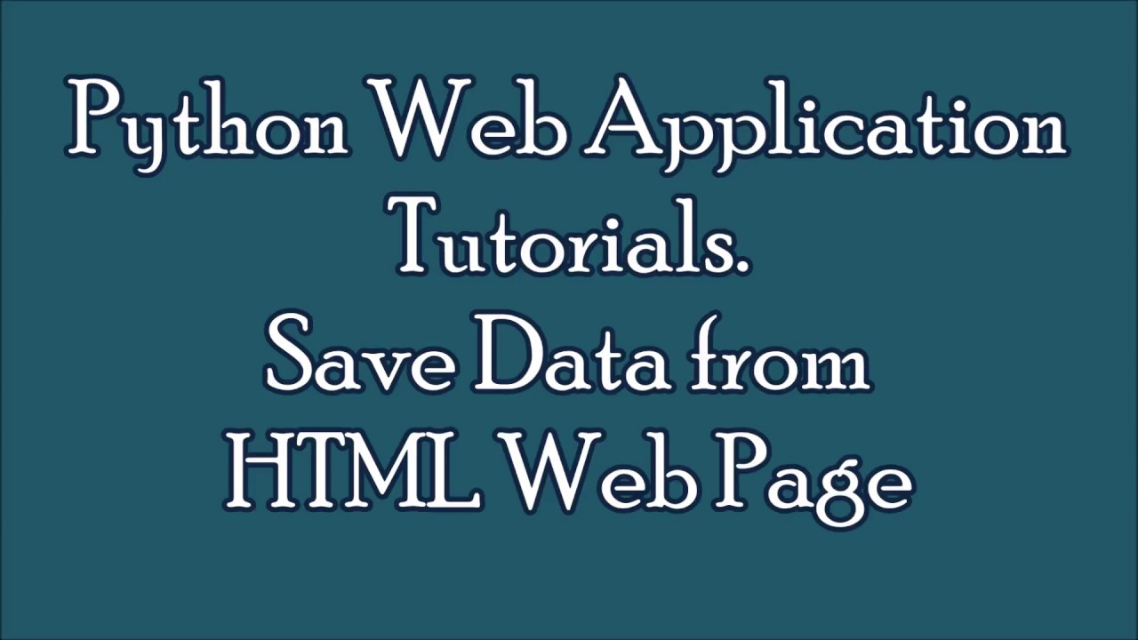 Python programming tutorials | Web Application example| Read data and show  in Web Page