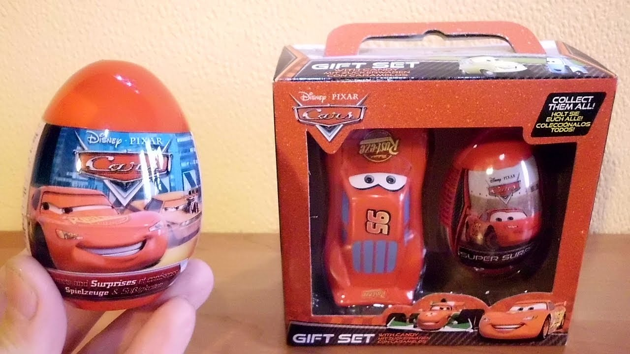 cars 2 movie gift set unboxing surprise egg toy candy