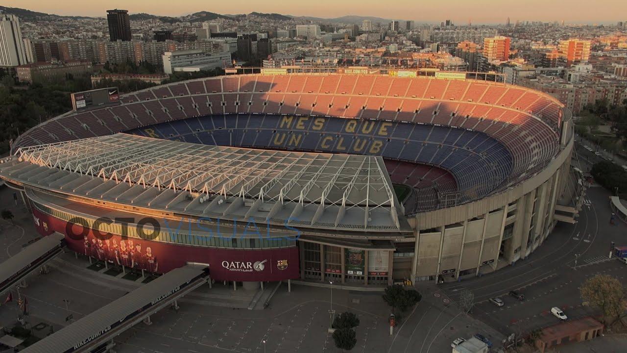 Fondos De Pantalla Camp Nou España El Fc Barcelona: FC Barcelona Camp Nou (vídeo Aéreo Con Dron)