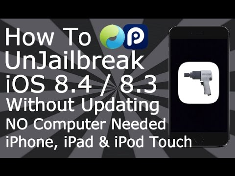 How To Remove Jailbreak & Restore IOS 8.1 - 8.4 Without Updating IPhone IPad IPod NO Computer