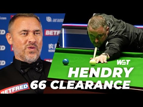 Stephen HENDRY 66 Clearance! 👊 Betfred World Championship Qualifying [R1]