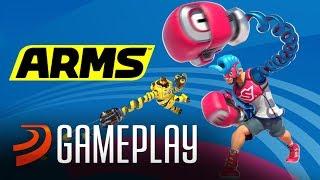 Jugando a ARMS, el juego de LUCHA de Nintendo