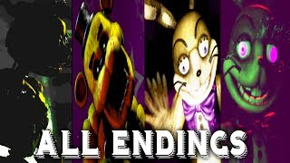 Five Nights at Freddy's VR ALL ENDINGS FNAF 1 2 3 4 5 6 UCN Help Wanted