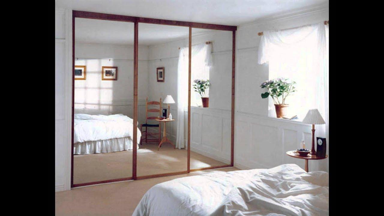 Glass bedroom wardrobe doors - YouTube