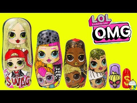 LOL Surprise OMG Big Sisters Nesting Dolls Swag, Neonlicious, Royal Bee, Lady Diva