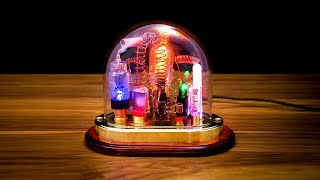 Steampunk Lamp Art Sculpture with Glass Dome Display - Part 1