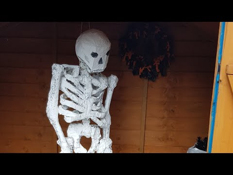 How to make a skeleton out of paper mache part 3 of 3 Halloween decoration