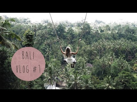 BALI 2017 VLOG #1 | UBUD MARKET, RICE TERRACE, WATERFALL, TEMPLE & BALI SWING | RED REIDING HOOD