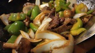 Chinese Pepper Steak, Wok Cooking fast recipe