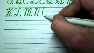 How to write in cursive 2/3