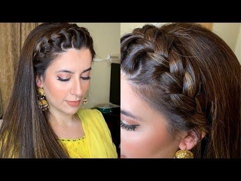 Easy Mehndi Makeup Look + Front Braid Tutorial