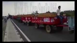 Swaraj 855 XM Pulling 17 Heavy Trolleys !! AMAZING POWER !!
