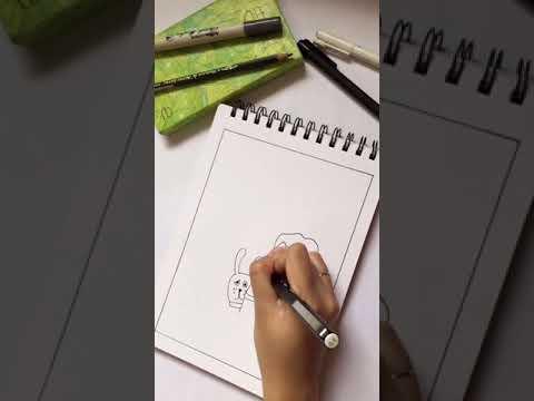 Vẽ doodle đơn giản ❤️ #vẽlinhtinh