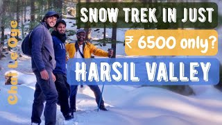 A SNOW TREK in HARSIL - A hidden Gem near GANGOTRI