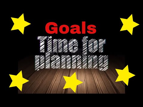 Setting Goals in Order to Achieve Something Greater (Planning)