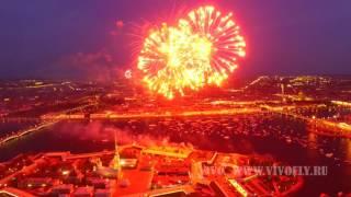 Салют на день победы в Санкт-Петербурге аэросъемка 9 мая 2016 WWW.VIVOFLY.RU