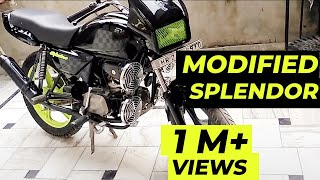 Splendor modified MOD 1 | e bike | modified bikes | sport bike | motorcycle | bike rack | honda