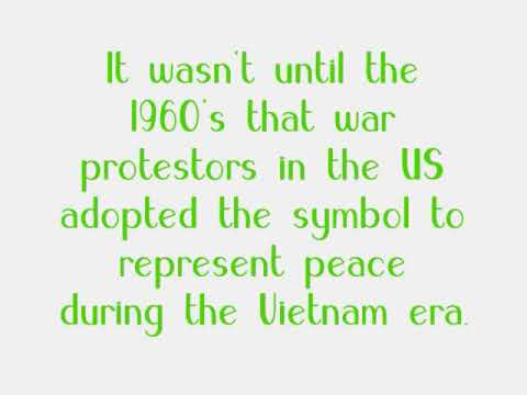 A Short History Of The Peace Sign Youtube