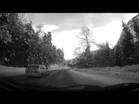 Дорога из Теберды в Домбай зимой