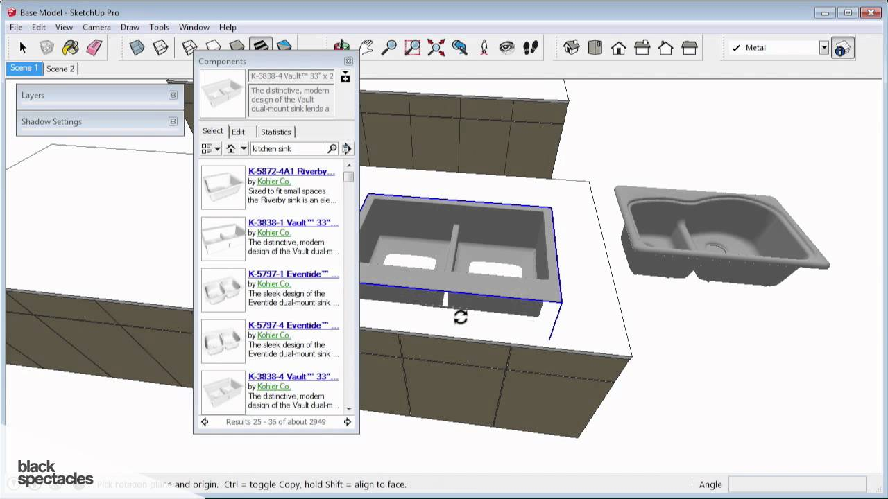 Adding Pre Made Assets Using the 3D Warehouse - SketchUp 2014 Conceptual  and Schematic Design