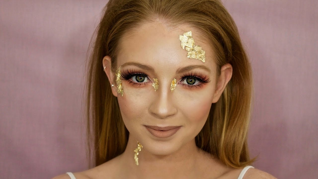 Gold Leaf Fairy Fancy Dress Halloween Makeup Tutorial How To