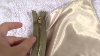 How to Sew or Install Zipper by hand (running back stitch)