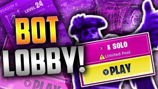 How To Get *BOT LOBBIES* In Fortnite! (EASY WINS) TUTORIAL