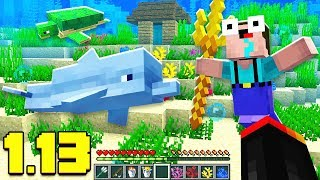 NEW MOBS / OCEAN RUINS / WEAPONS IN MINECRAFT 1.13 AQUATIC UPDATE